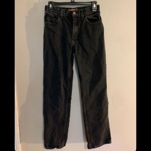 Relaxed black hinted gray boyfriend jeans